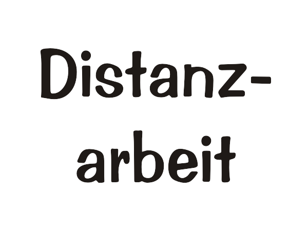 Distanzarbeit